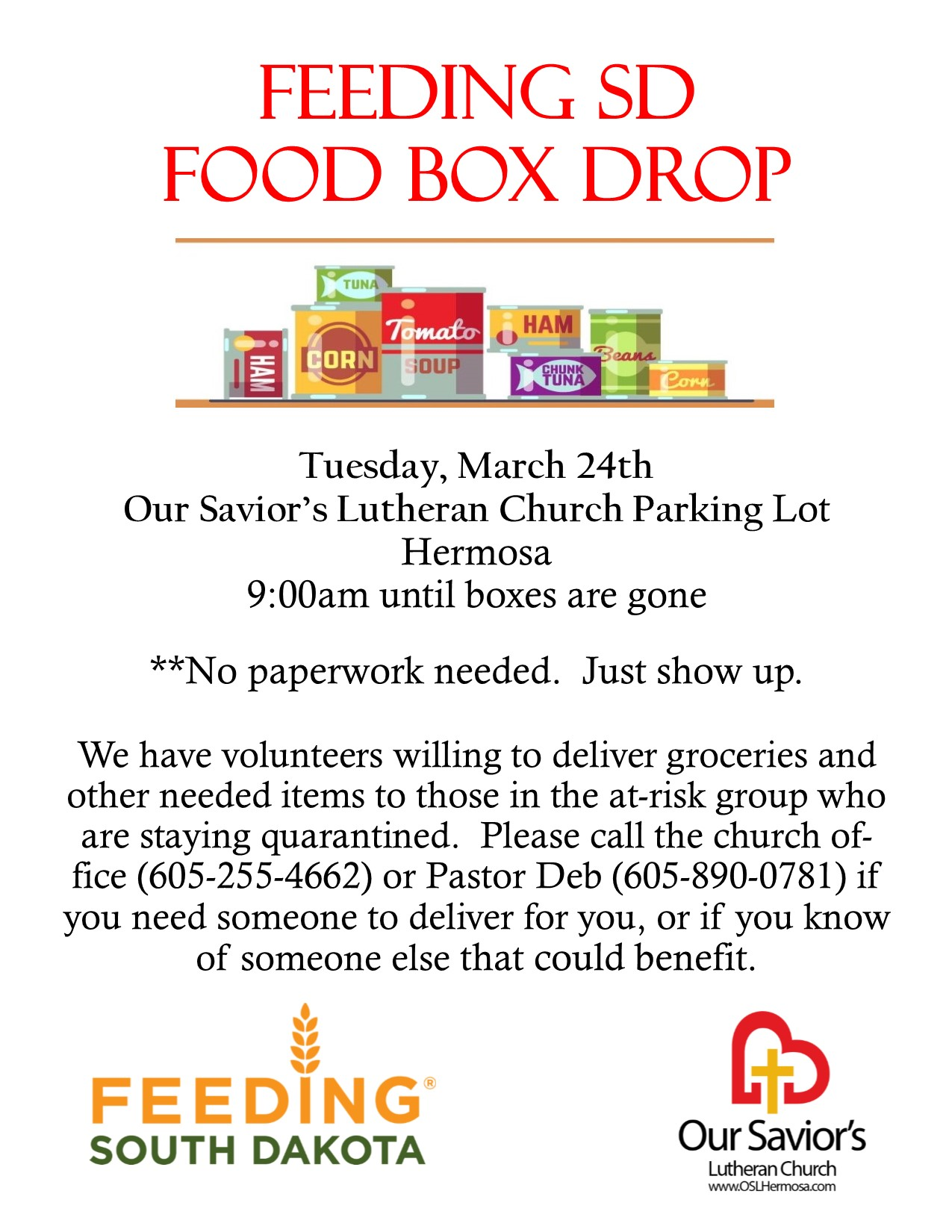 Feeding South Dakota Food Box Drop
