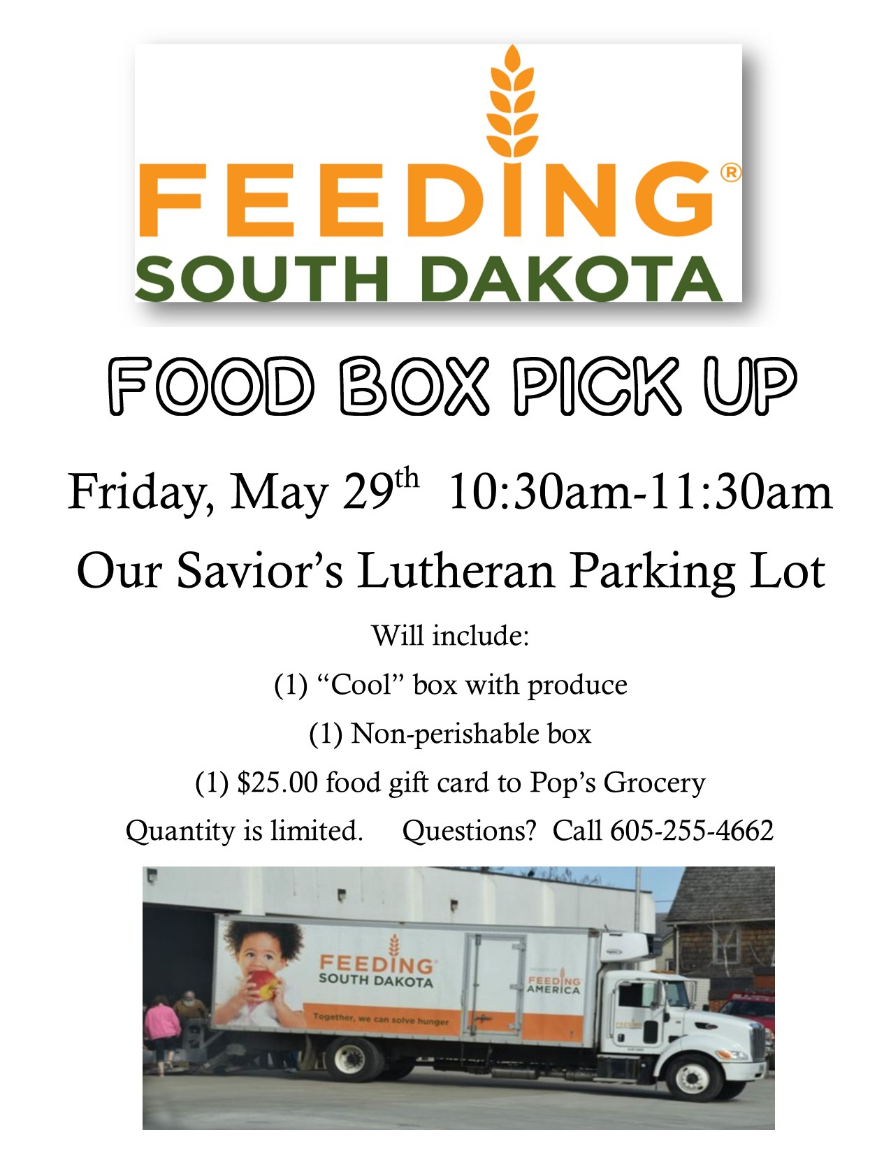 Feeding South Dakota Food Box Pick-Up