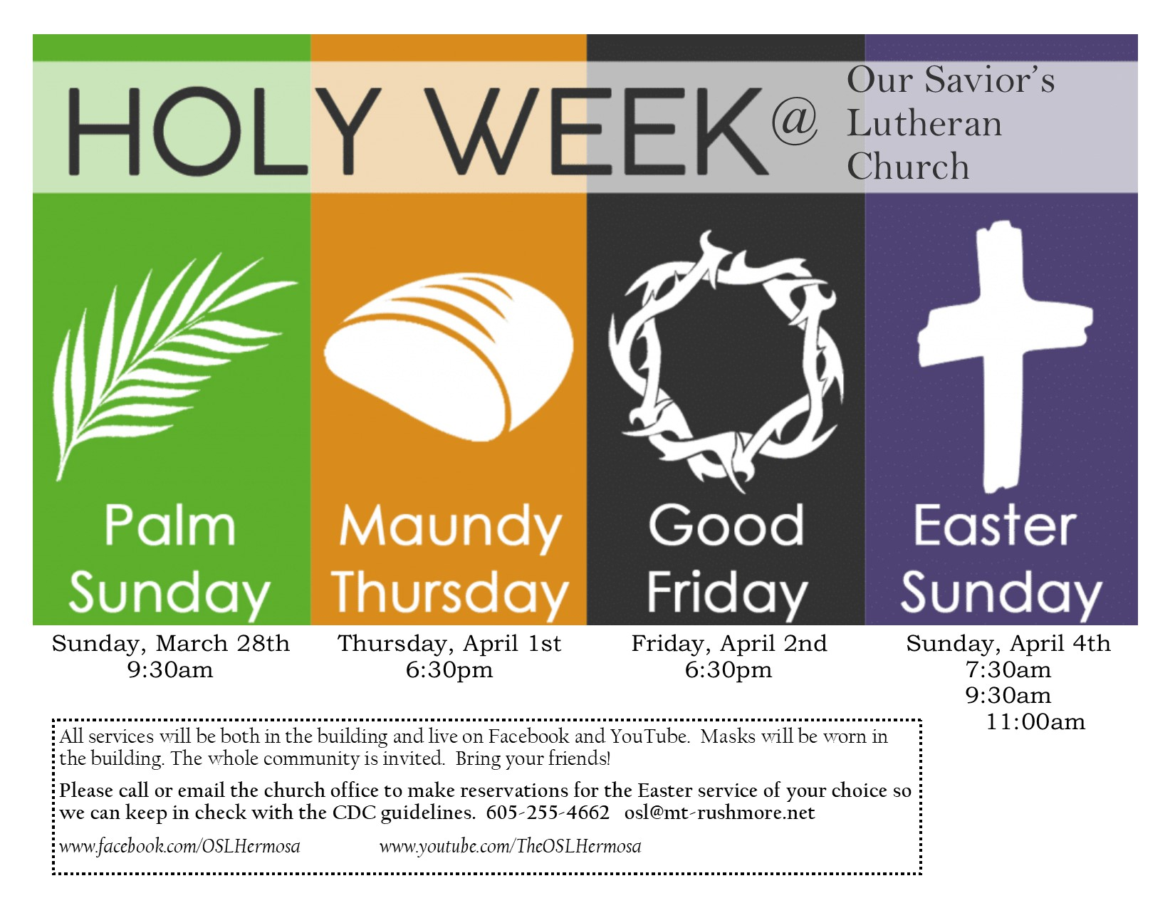 Bulletin for March 28th- Palm Sunday